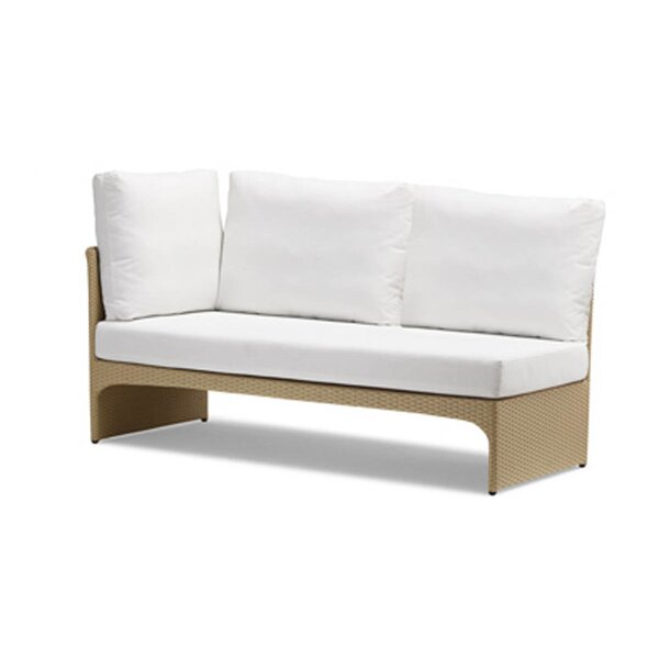 Cerise Right Corner Sectional Piece Patio Sofa  with Cushions by 100 Essentials