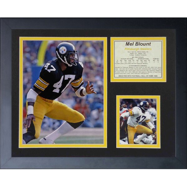 Mel Blount Framed Memorabilia by Legends Never Die