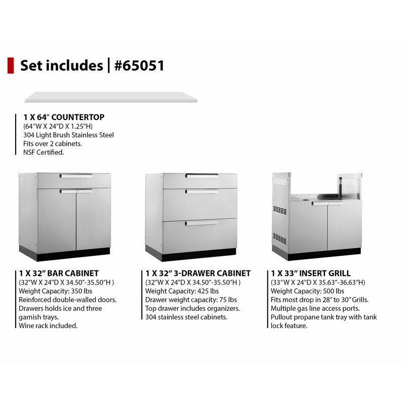 NewAge Products Outdoor Kitchen Set 97\