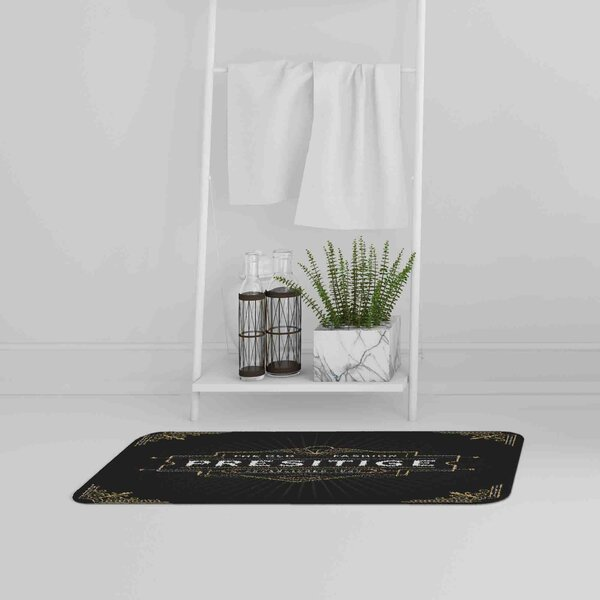 Soloway Art Deco Old Fashioned Prestige Designer Rectangle Non-Slip Bath Rug