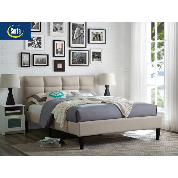Francis Upholstered Platform Bed by Serta