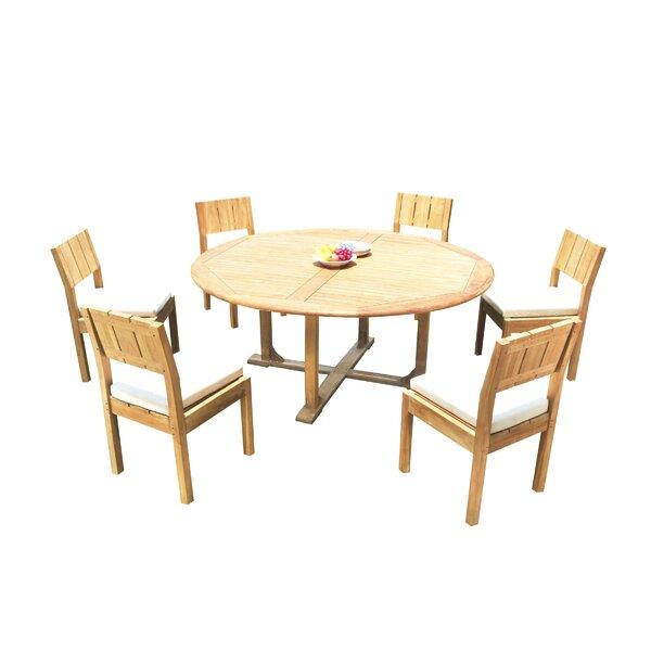 Wilson 7 Piece Teak Dining Set Bayou Breeze W003086241