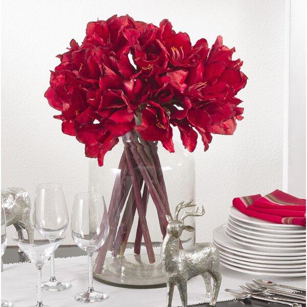 Faux Amaryllis Floral Arrangement by Gracie Oaks