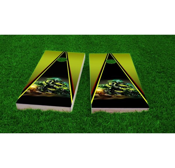 Motorcycle Cornhole Game Set by Custom Cornhole Boards