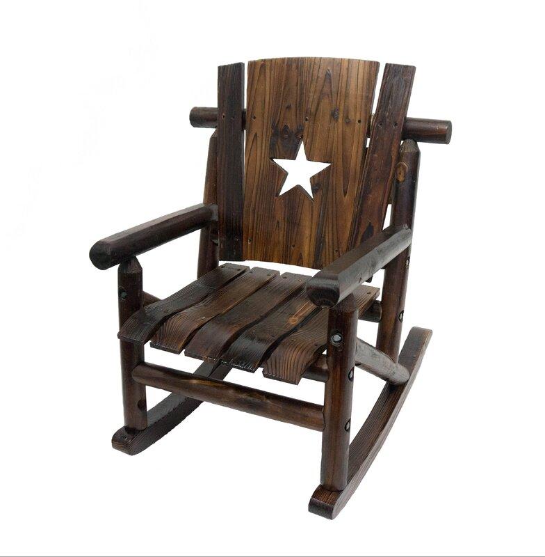 Char Log Junior Lilu0027 Cut Out Star Single Rocking Chair II