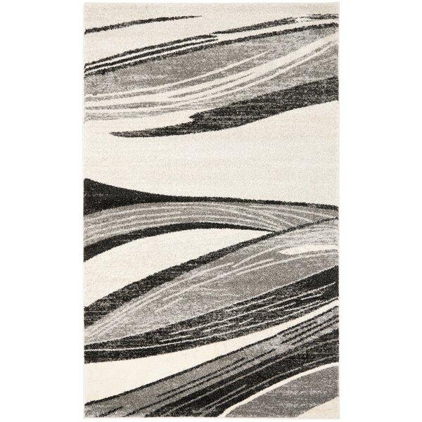 Gordon Light Grey/Ivory Rug by Wade Logan