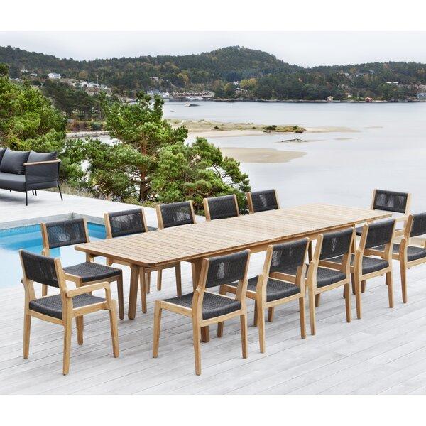 Skagen 9 Piece Teak Extendable Dining Set by OASIQ