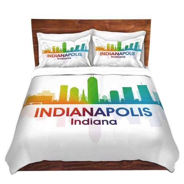 City I Indianapolis Indiana Duvet Cover Set