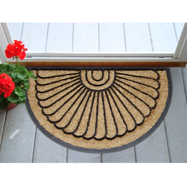 DirtBuster Sunburst 30 in. x 18 in. Non-Slip Outdoor Door Mat