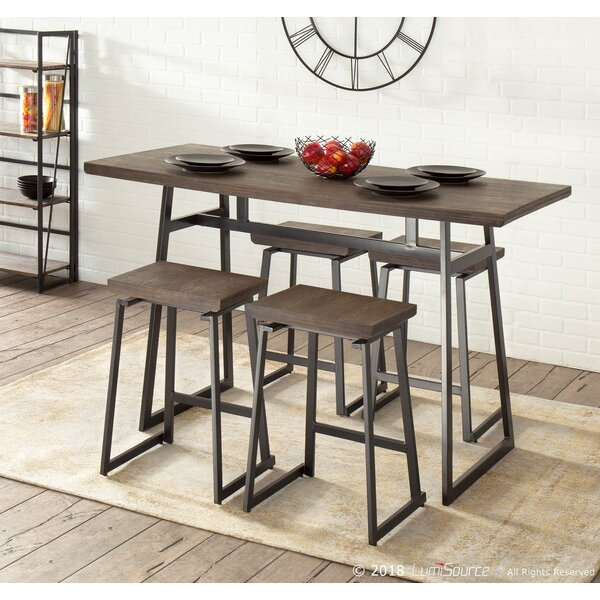 Platane 5 Piece Counter Height Dining Set by Gracie Oaks