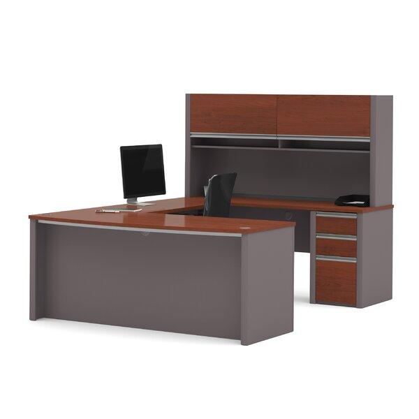 Wirra U-Shape Executive Desk with Hutch by Latitude Run