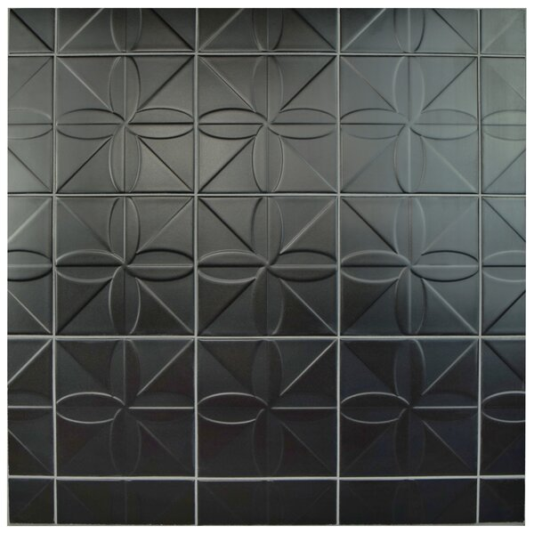 Tres Fronteira 7.75 x 7.75 Ceramic Field Tile in Black by EliteTile