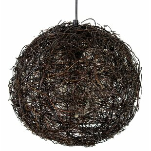 Great Price Flashy Hanging Rattan Lantern By World Menagerie