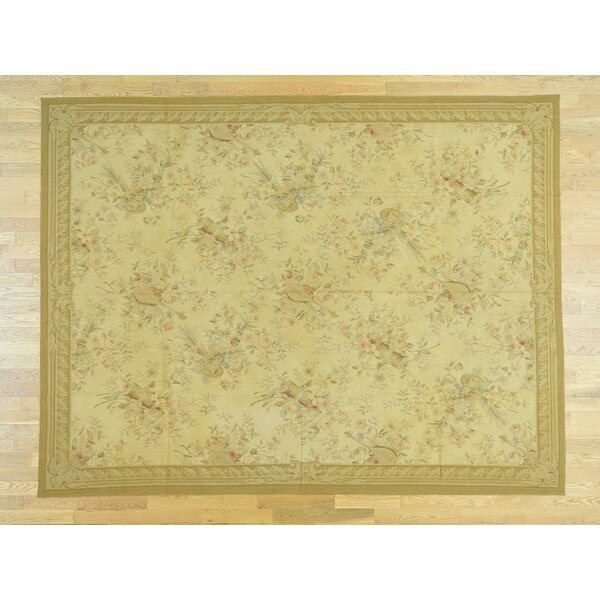 One-of-a-Kind Besser Flat Weave Hand-Woven Wool Beige Area Rug by Isabelline