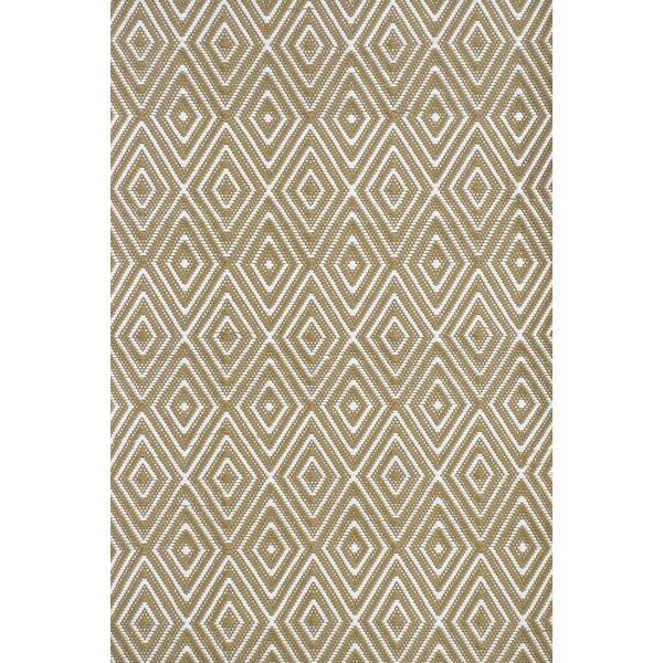 Diamond Hand-Woven Brown Indoor/Outdoor Area Rug by Dash and Albert Rugs