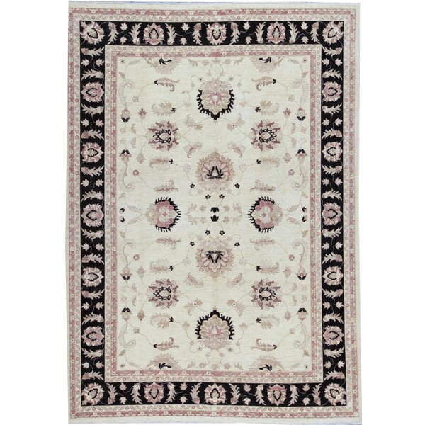One-of-a-Kind Zarbof Quality Hand-Knotted 10' x 13'8 Wool Beige Area Rug