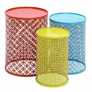 metal 3 piece nesting tables
