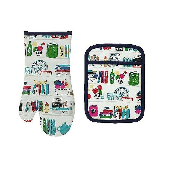 Cookbooks Oven Mitt and Potholder Set by kate spade new york
