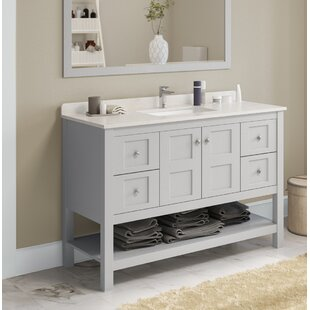 Compare prices Mcelhaney 48 Single Bathroom Vanity Set By Winston Porter