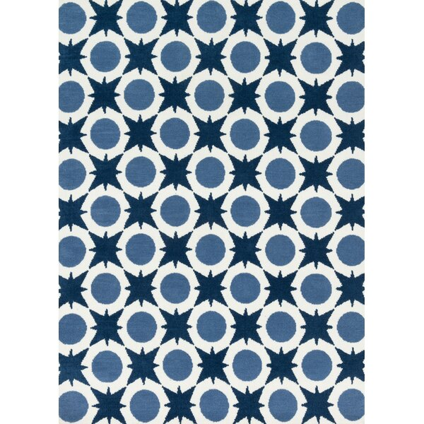 Bullion Light Blue/Navy Area Rug by Harriet Bee