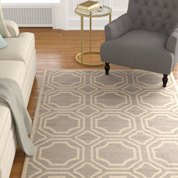 Freeman Gray Area Rug by Charlton Home