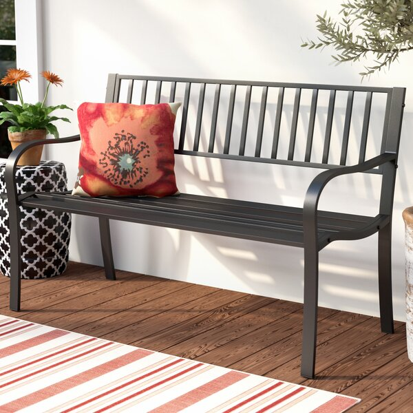 Kirschbaum Traditional Steel Park Bench by Winston Porter