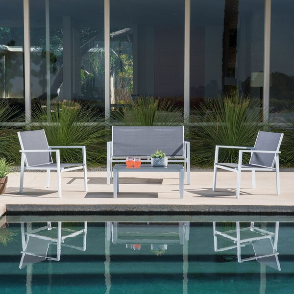 Lebron 4 Piece Patio Dining Set by Latitude Run