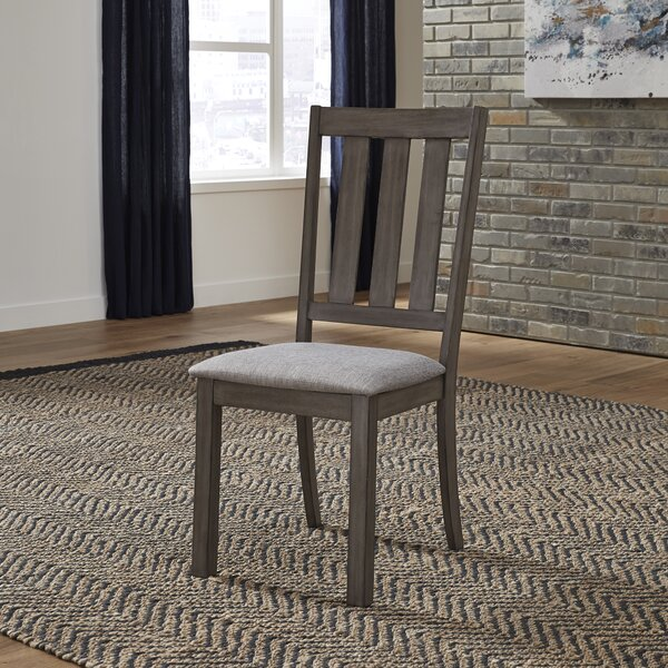 Ladwig Slat Back Upholstered Dining Chair (Set of 2) by Union Rustic