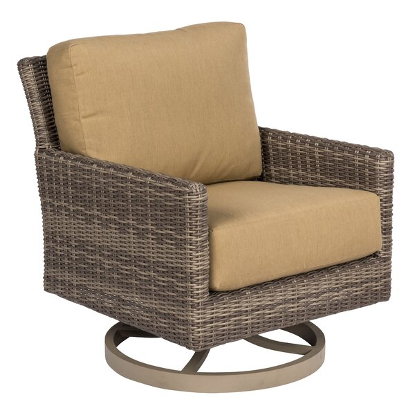 Parkway Swivel Patio Chair with Cushions by Woodard
