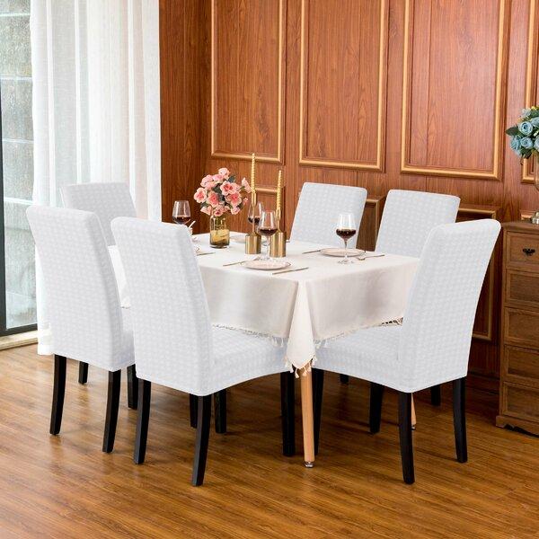 Discount Paper Crane Jacquard Stretch Box Cushion Dining Chair Slipcover
