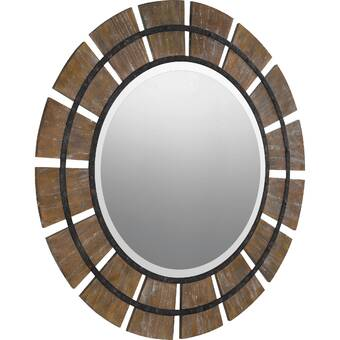 Willa Arlo Interiors Dhruv Farmhouse Country Wood Cottage Accent Mirror Reviews Wayfair