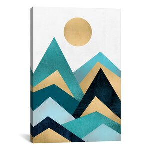 'Waves Canvas' Graphic Art on Wrapped Canvas by East Urban Home