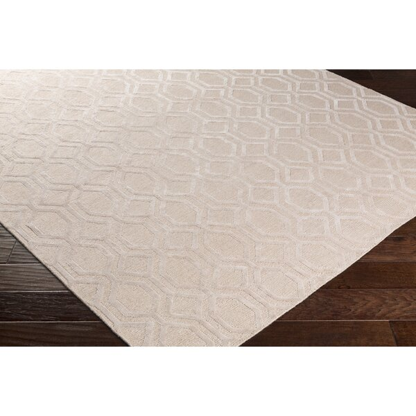 Barrville Hand-Knotted Pink Area Rug by Darby Home Co
