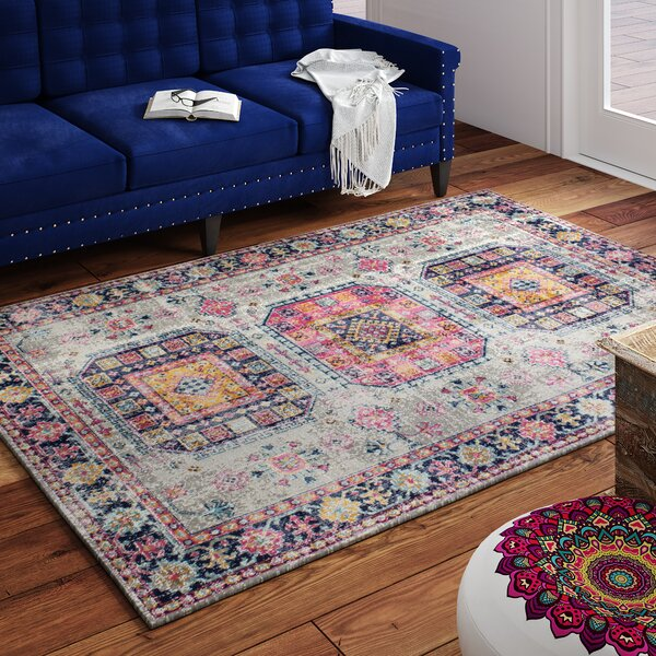 Ashburn Gray Area Rug by Bungalow Rose