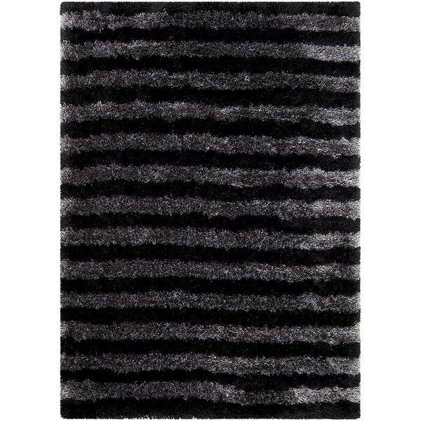 Black Area Rug by AllStar Rugs