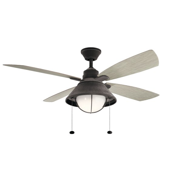 54 Menendez 4 Blade Outdoor LED Ceiling Fan by Longshore Tides