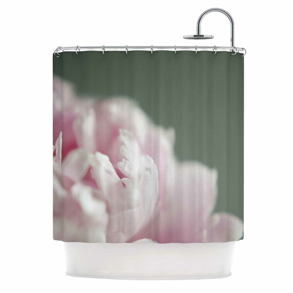 Cristina Mitchell a Single Peony Photography Shower Curtain by East Urban Home