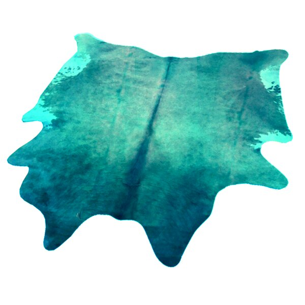 Whisnant Hand Woven Cowhide Turquoise Indoor Area Rug by Latitude Run