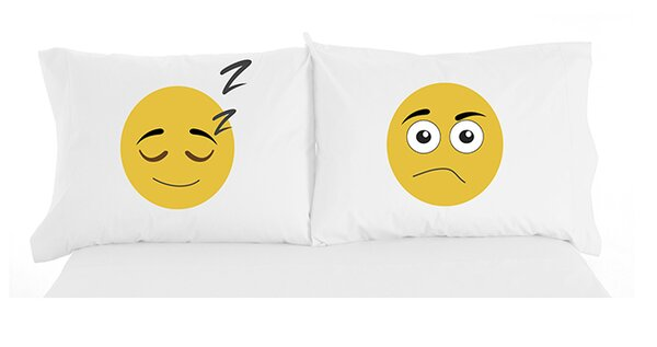 Granby Emojis Inspirational Novelty Print Pillowcase Pair by Latitude Run