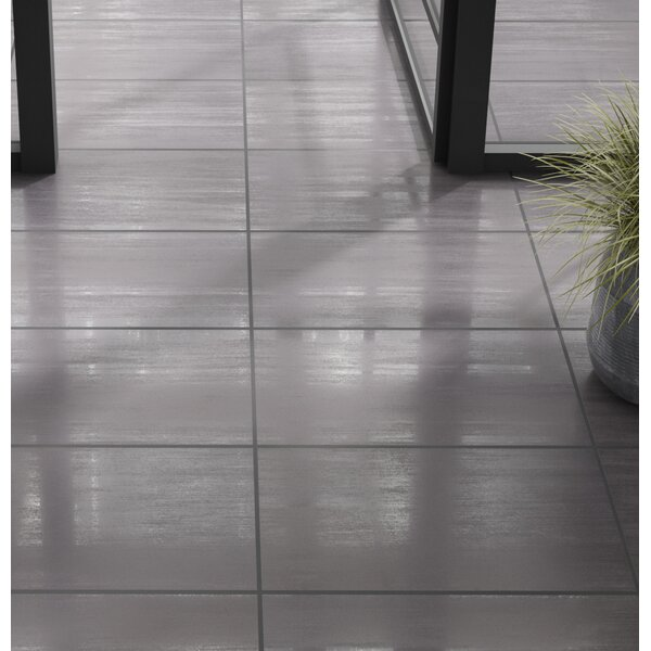 Refinery 12 x 24 Porcelain Field Tile in Charcoal by PIXL