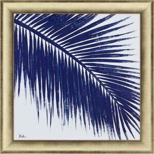 Indigo Baru Palm II by Pinto Framed Painting Print by Paragon