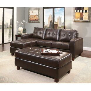 Oliver Reversible Modular Sectional with Ottoman Breakwater Bay