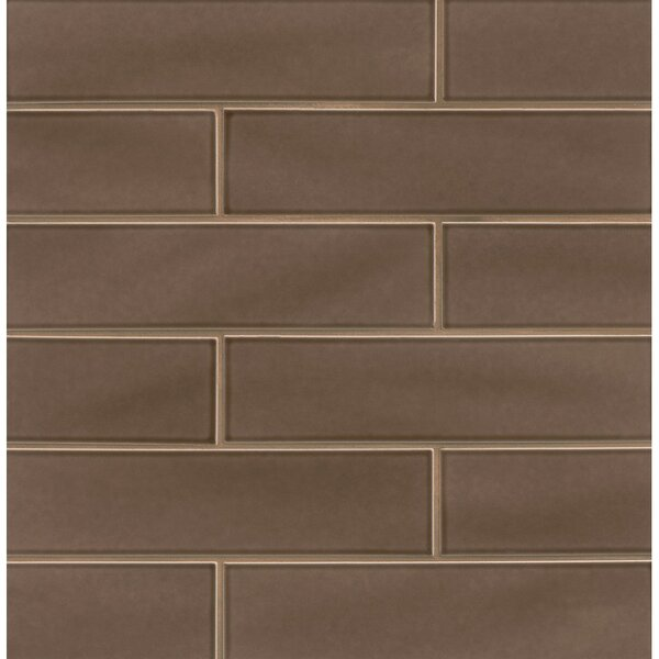 Park Place 3.88 x 16 Ceramic Field Tile in Matte Brown by Grayson Martin
