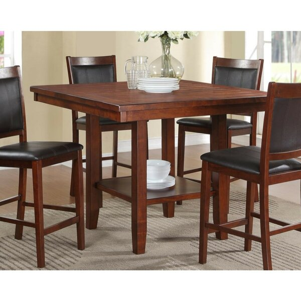 Vasios Acacia Wood Counter Height Dining Table by Winston Porter
