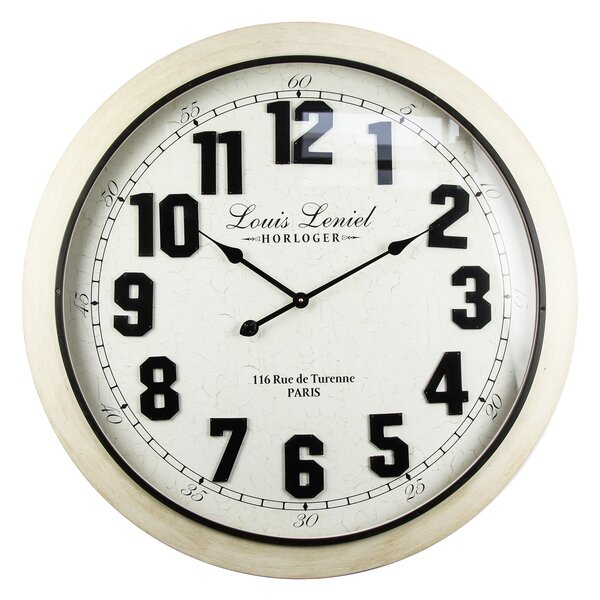 Oversized Pernell Leniel 29.5 Wall Clock by Winston Porter