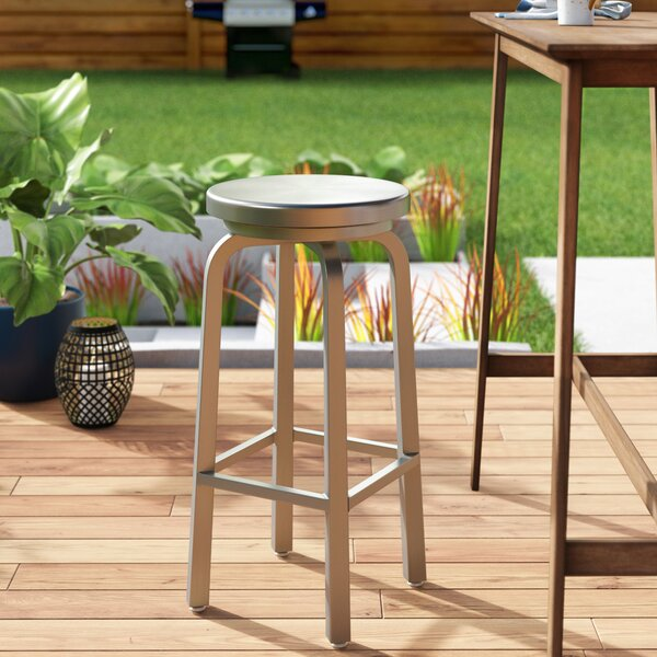 Wren 30 Patio Bar Stool by Wade Logan