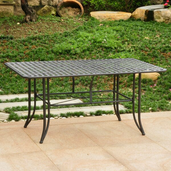 Doric Metal Dining Table by Darby Home Co