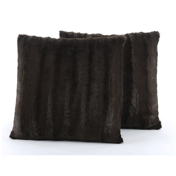 Grasso Indoor Faux Fur Throw Pillow (Set of 2) by Alwyn Home