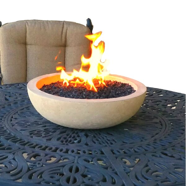 Concrete Propane Fire Pit by Fire Topper