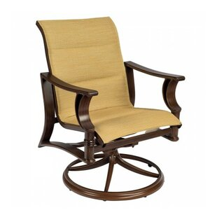 Arkadia Padded Swivel Rocker Patio Dining Chair (Set Of 2) Woodard Reviews  ...